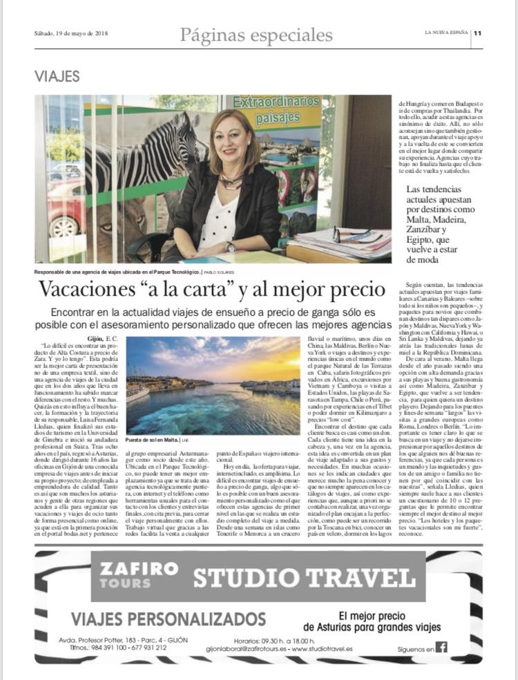Entrevista a La Nueva España